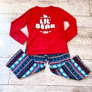 RED pajama set Lil' Bear size 10